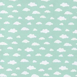 green clouds fabric