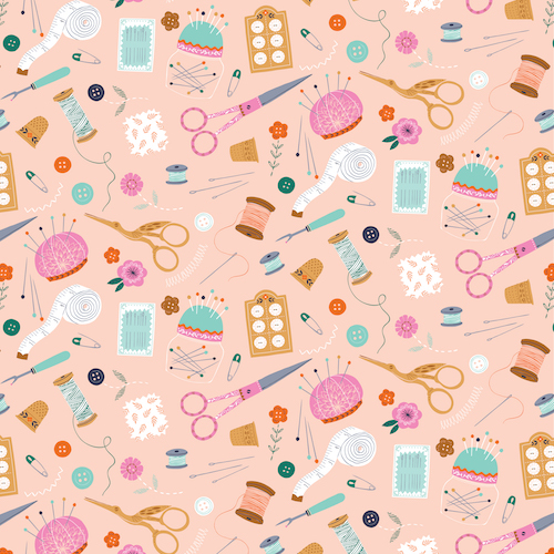 pink sewing fabric