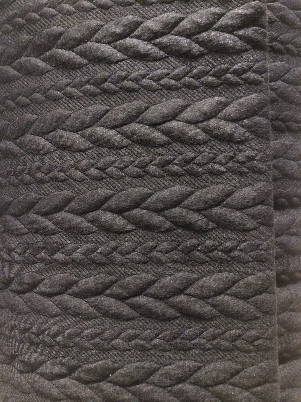 cable knit navy fabric