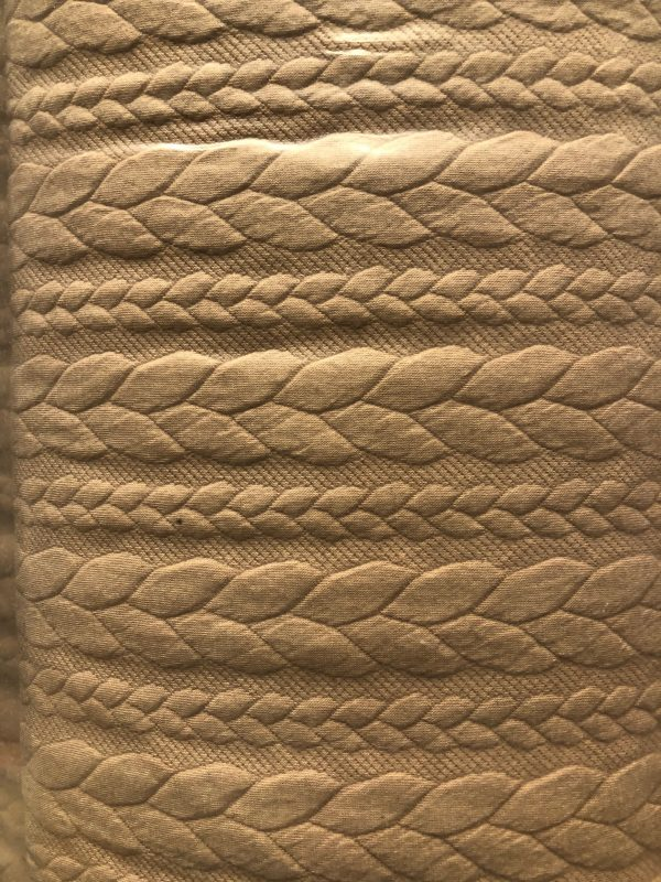 cable knit jersey fabric
