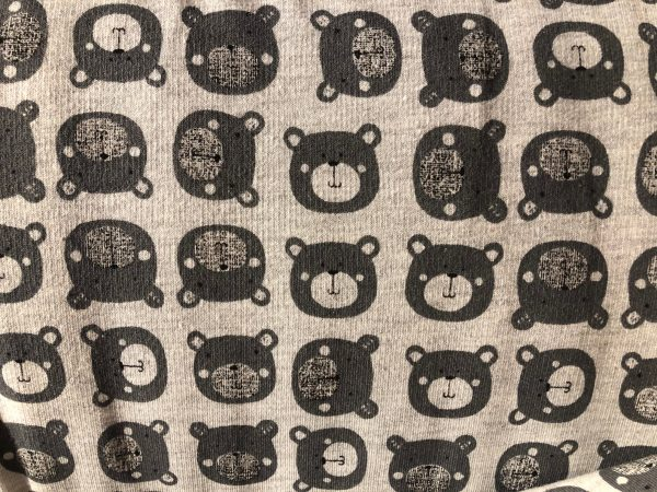 french terry bear fabric