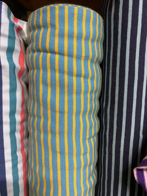 yellow and blue stripes jersey