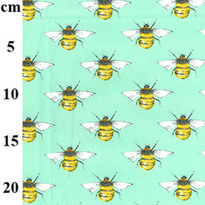 bees poplin cotton fabric