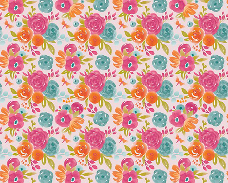 pink floral jersey fabric