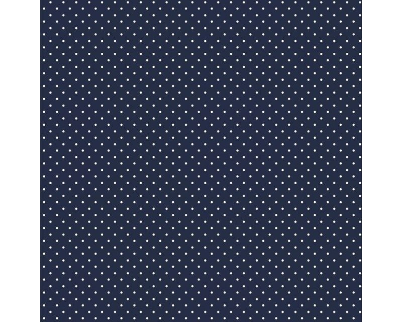 pinspot navy cotton fabric