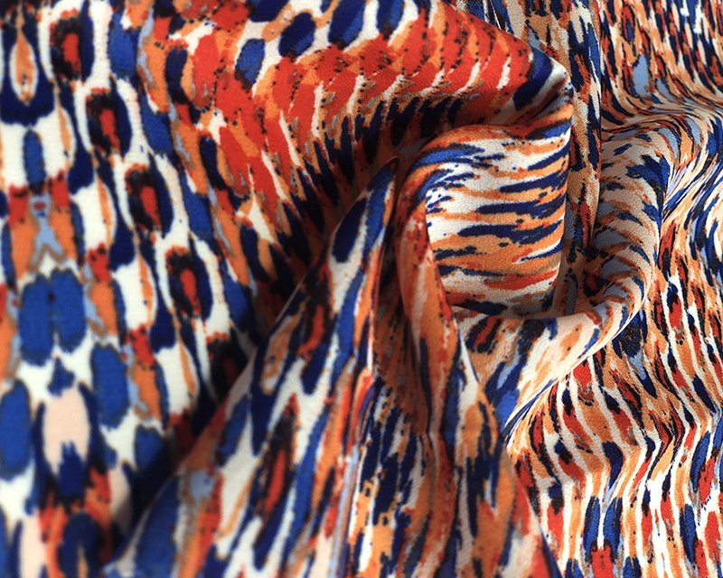 abstract georgette fabric