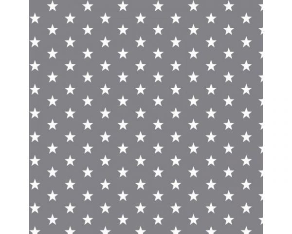 grey stars cotton fabric