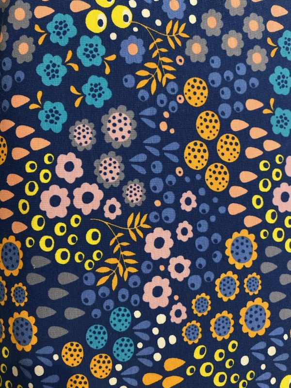 Bright floral jersey fabric