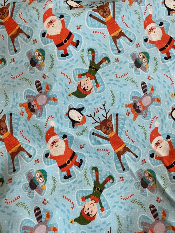 christmas characters jersey fabric