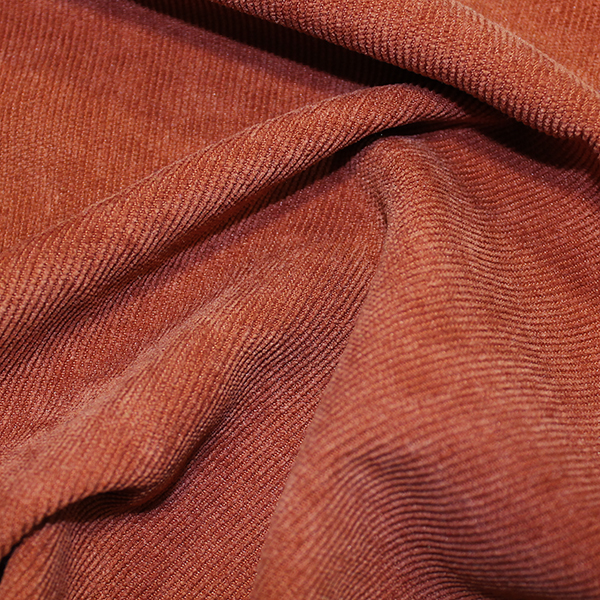 orange corduroy fabric