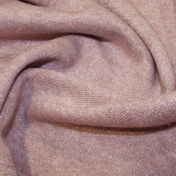sparkly pink knit fabric