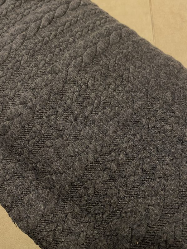 Blue denim cable knit fabric