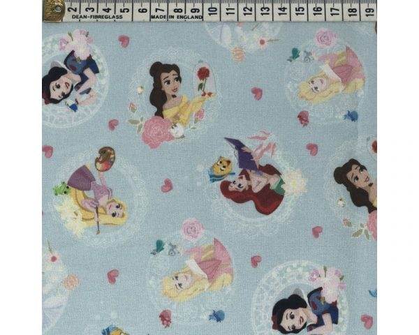 blue princess cotton fabric