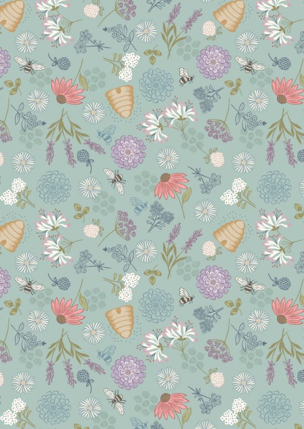 lewis irene bee floral cotton fabric