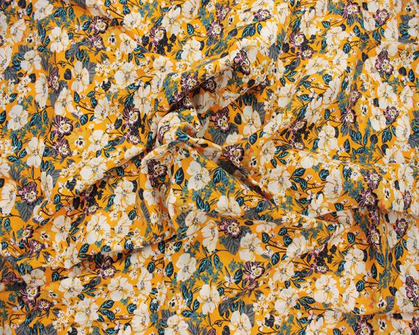 Yellow floral lawn